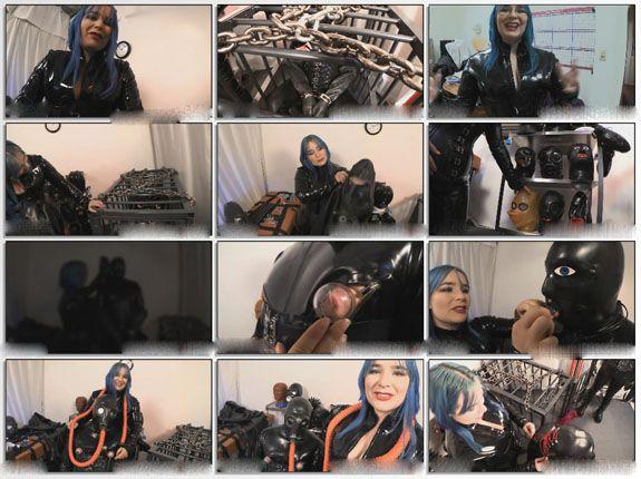Rubber slave video