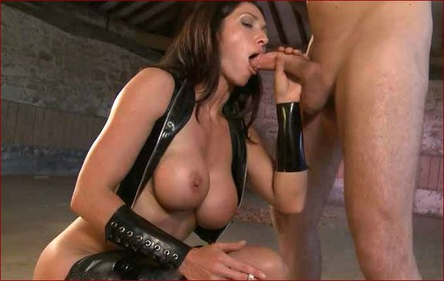 Miss Hybrid - Mature smoking femdom sucks cock [HD 720p]