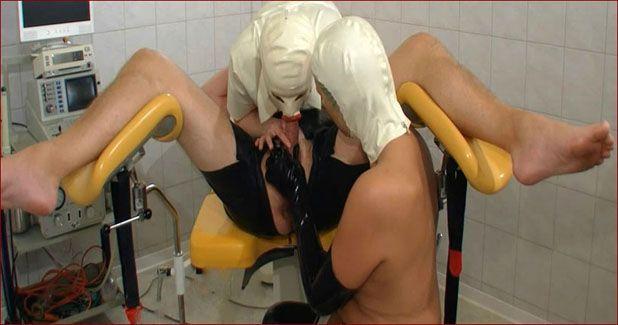Spekula - Mistress milking slave in rubber clinic [FULL HD 1080p]