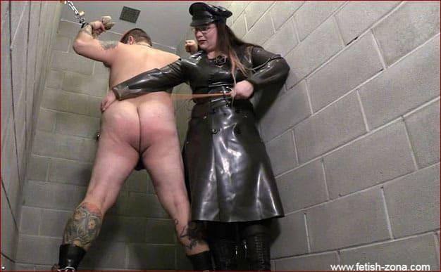 Mistress Alice - Mistress in rubber cloak dominates over slave [HD 720p]