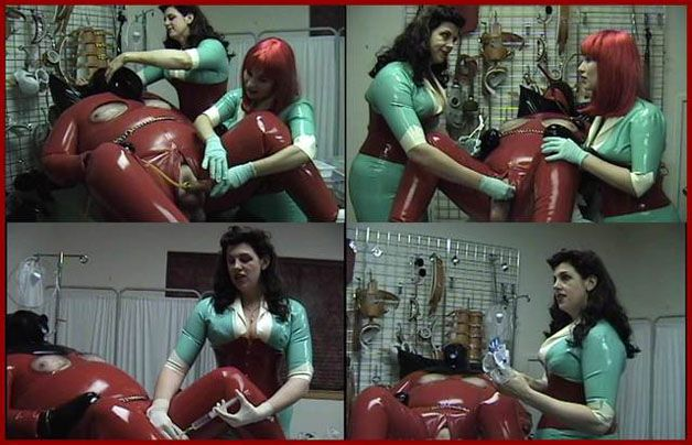 Castle Diabolica - Mistress Amanda Wildefyre - Female domination over fat man in rubber [HD 720p]