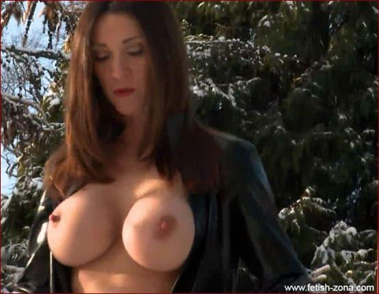 Miss Hybrid - Latex fantasies milf in winter day [ FULL HD 1920x1080p]