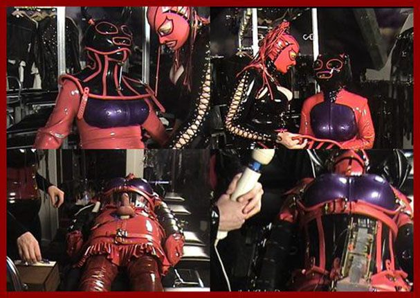 Mistress Amanda Wildefyre - Rubber dolly and electric torture [MP4 480p]