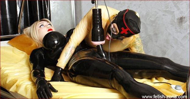 Sissy nurse and artificial pussy on penis [JPEG 1200x800]