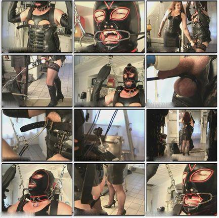 Rubber slave bondage