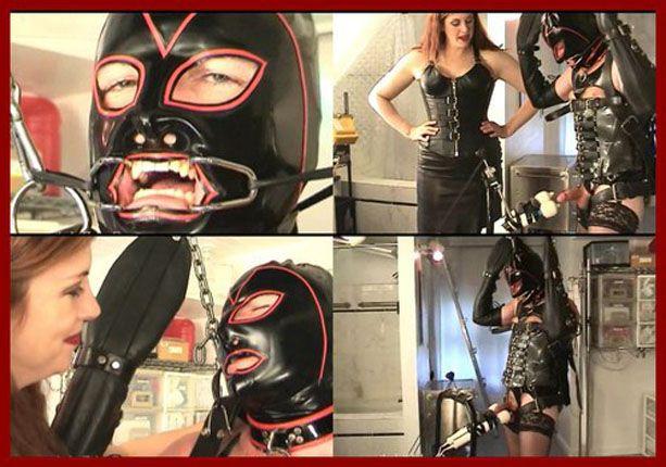 Mistress Amanda Wildefyre - Rubber slave bondage on treadmill [MP4 480p]