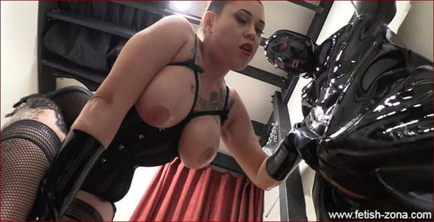 Taylor Dawn, Eden Alexander - Mistress domination over guy in heavy rubber [HD 720p]