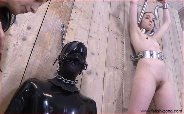 Elise Graves, Pling, Coby - Metal bondage video with ladies attached to the wall [HD 720p]