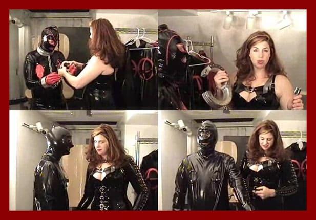 Mistress Amanda Wildefyre - Slave in bondage at latex Mrs [MP4 240p / Castle Diabolica]