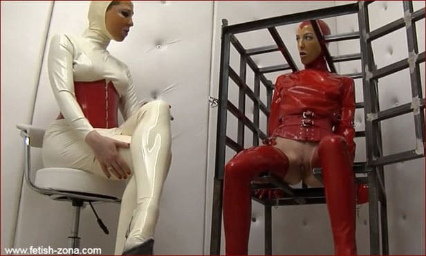 Fetish Clinic – Anna Rose, Elise Graves – Bondage video with girl in latex straitjacket PT2 | HD 720p