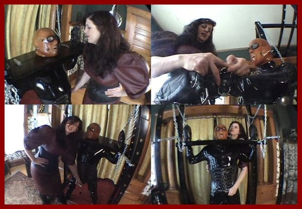 Castle Diabolica - Mistress Amanda Wildefyre - Heavy bondage and Mistress in leather dress [MP4 480p]