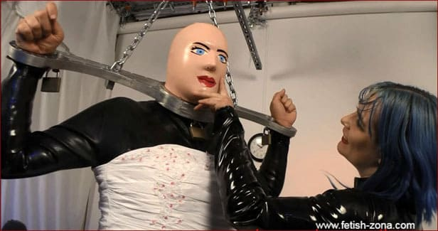 Mistress Alice - Crossdresser bride in rubber [FULL HD 1080p / Alice in BondageLand]