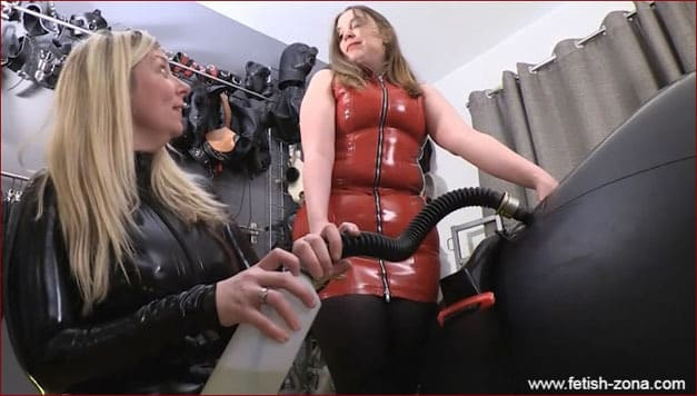 Lady Annisa, Ms Feendish - Hard sex orgasm in rubber ball [HD 720p / Serious Images]