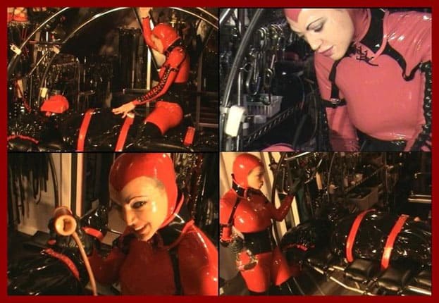 Mistress Amanda Wildefyre - Castle Diabolica - Domination over Rubber Boy [MP4 480p]