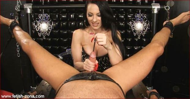 Mistress Nikita - Big dick torture with metal rod [FULL HD 1080p / Obeynikita]