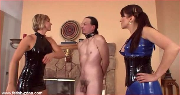 Goddess Brianna - Hard slap and domination from femdom in latex [MP4 360p / ClubDom]