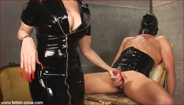 Mistress Nikita - Handjob vidio from strong woman in latex [FULL HD 1080p / Obeynikita]