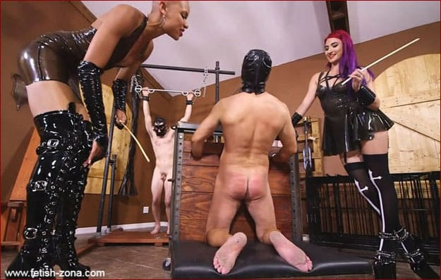 Queen Qandisa, Goddess Amadahy - Ass Caning from Latex Femdom [HD 720p]