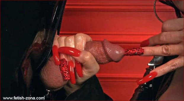 Mistress Nikita - HD Video Handjob from Latex Femdom [FULL HD 1080p]
