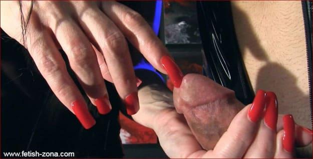 Mistress Nikita - Long nails domination over latex guy [HD 720p]