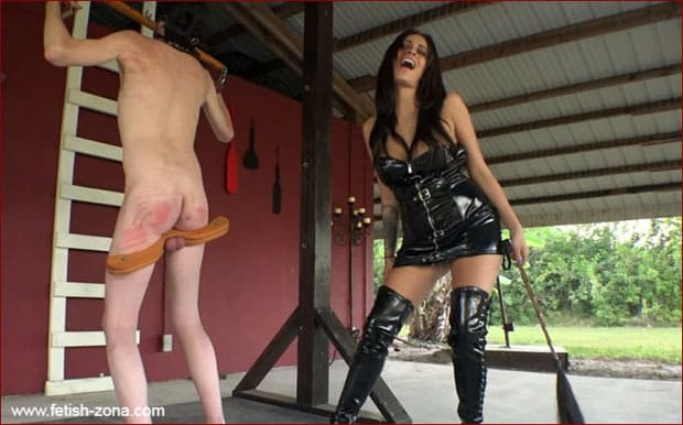 Jamie Valentine - Hard spank from sexy Jamie in latex [HD 720p]