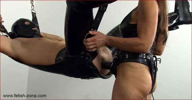 German mistress fucks strapon deep into her slaves willing asshole [FULL HD 1080p]