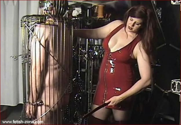 Amanda Wildefyre - Femdom chastity and cage torment [MP4 480p]