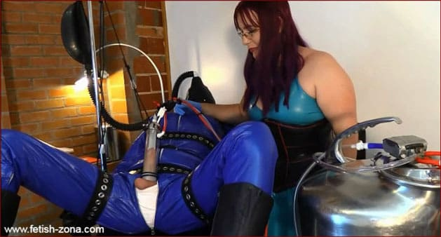 Mistress Alice - Slave milking [MP4 480p / Alice in BondageLand]