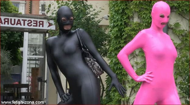 Hot models in spandex catsuits [FULL HD 1080p]