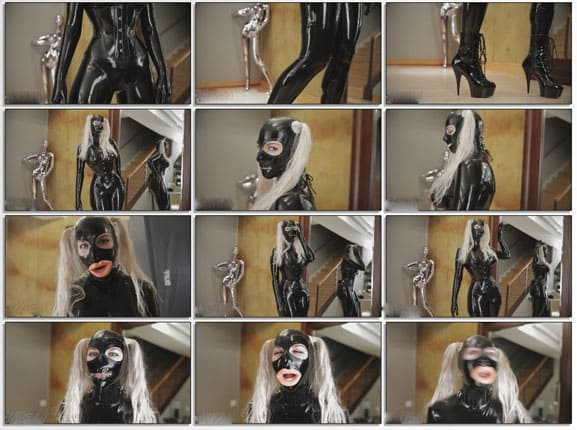 Rope Candy in black latex - FULL HD 1080p