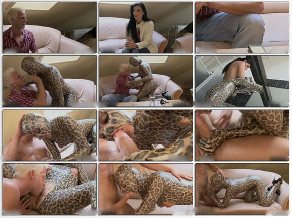 Surprise blow jobs from zentai doll in spotted spandex - FULL HD 1080p