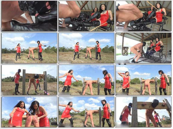 Lydia Supremacy - Mercilessly spanked with a cane on slave's skinny ass - HD 720p