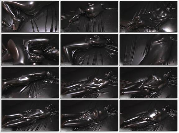 Nico - Vacuum bed bondage in black latex - FULL HD 1080p