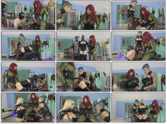 Latex doll forced transformation and make hard sex - HD 720p