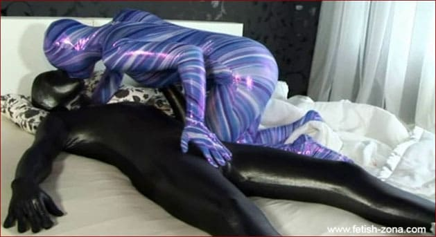 Sex doll in spandex - HD 720p