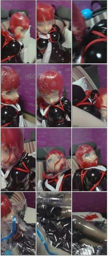 Amateur - Homemade Breath Play In Anime Mask - MP4 360x638 (Kigurumi )