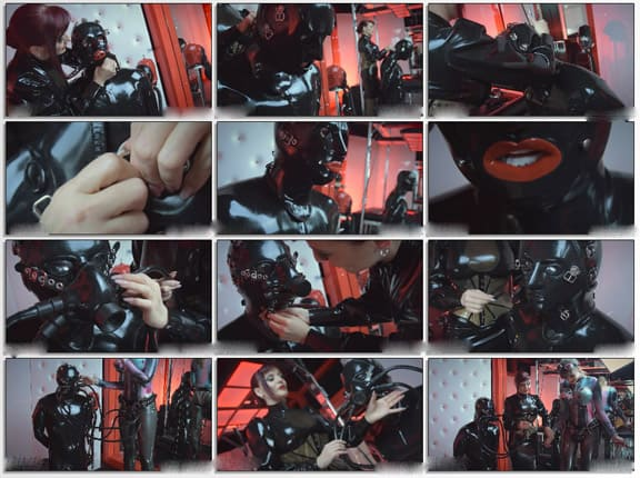 Lady Ginger - Bullying for slave in rubber mask - FULL HD 1080p