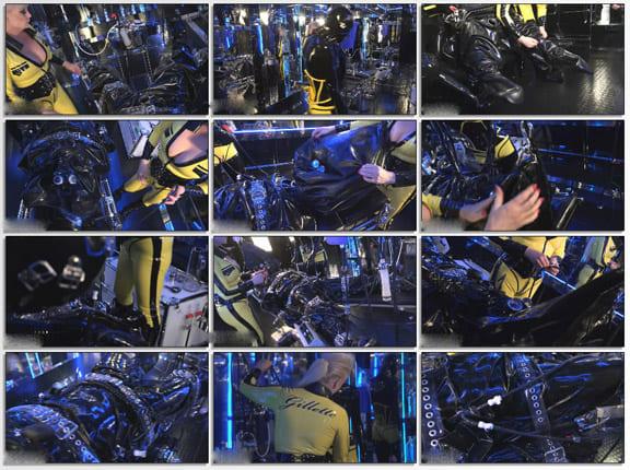 Madame Gillette - Breath control in rubber bag - FULL HD 1080p