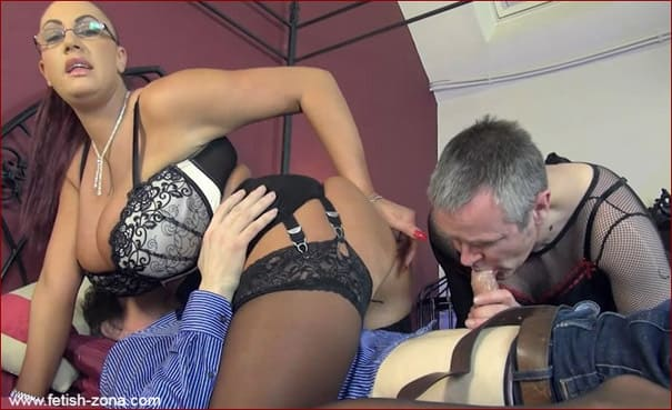 Sissy Husband Cuckold Sucks Penis From Wife's Lover - HD 720p ( Bi Cocksucking )