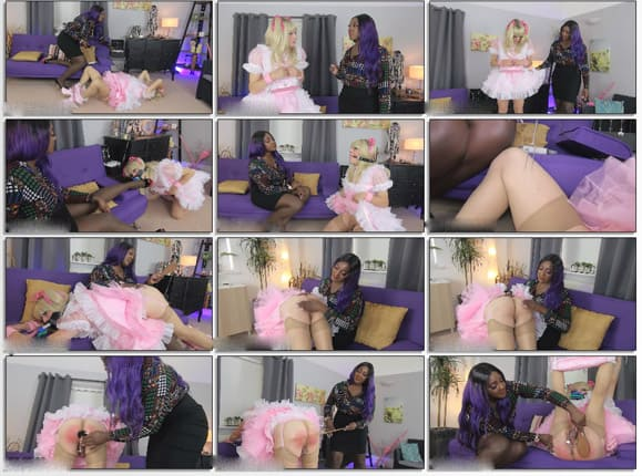 Black Mistress Dominates Her Obedient Sissy - HD 720p