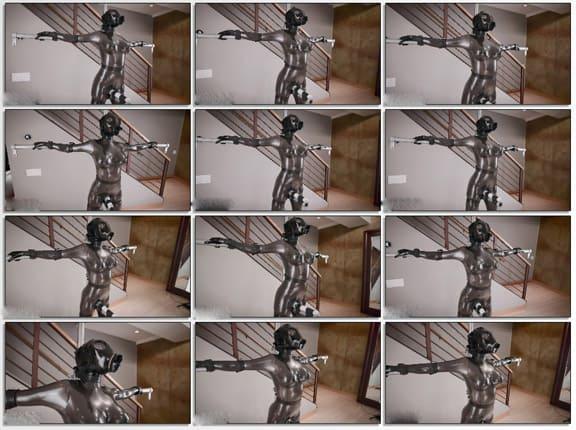 Vespa - Super sexplosion in bondage and gasmask - FULL HD 1080p (Metallic latex)
