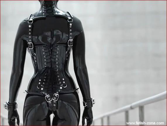Vespa in black latex