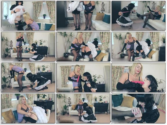 Crossdresser sissy maid serves sexy lady - HD 720p