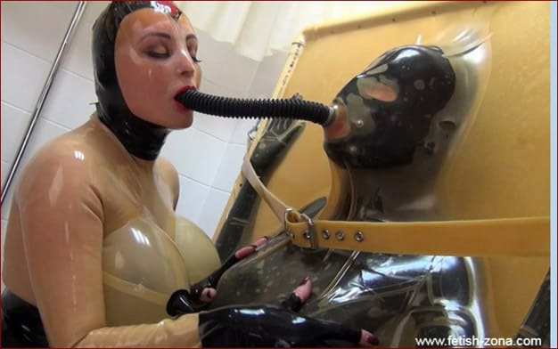 Fetish fun films with slave in rubber cube - FULL HD 1080p