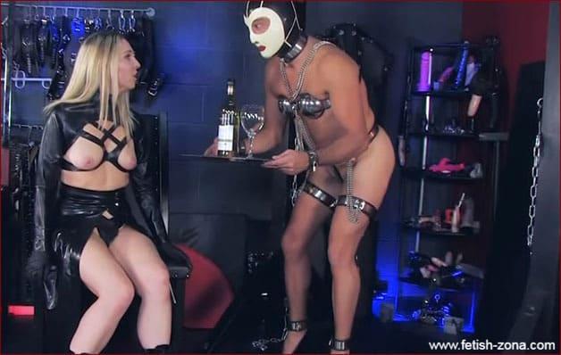 Obedient Sissy slave in metal bandage - HD 720p