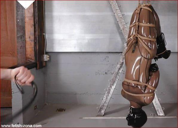 Vespa - Hot spanking latex girl in rope bondage - FULL HD 1080p