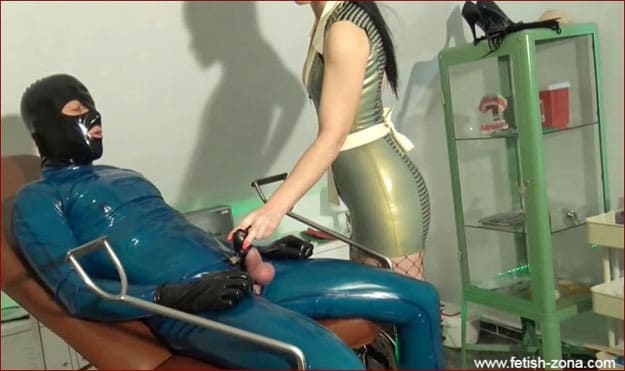 Creating crossdresser doll within walls of clinic - HD 720p