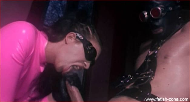 Thick Penis Fucks Lady In Pink Latex - HD 720p