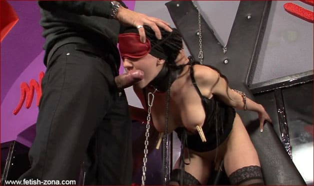 Bondage movie with girl in leather corset - FULL HD 1080p