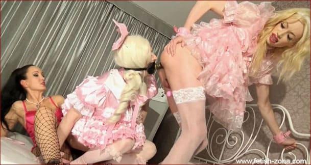 SASHA DE SADE - Naughty Sissies who fuck together with their mistress - HD 720p